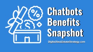 Chatbots For Real Estate - Benefits Snapshot Image