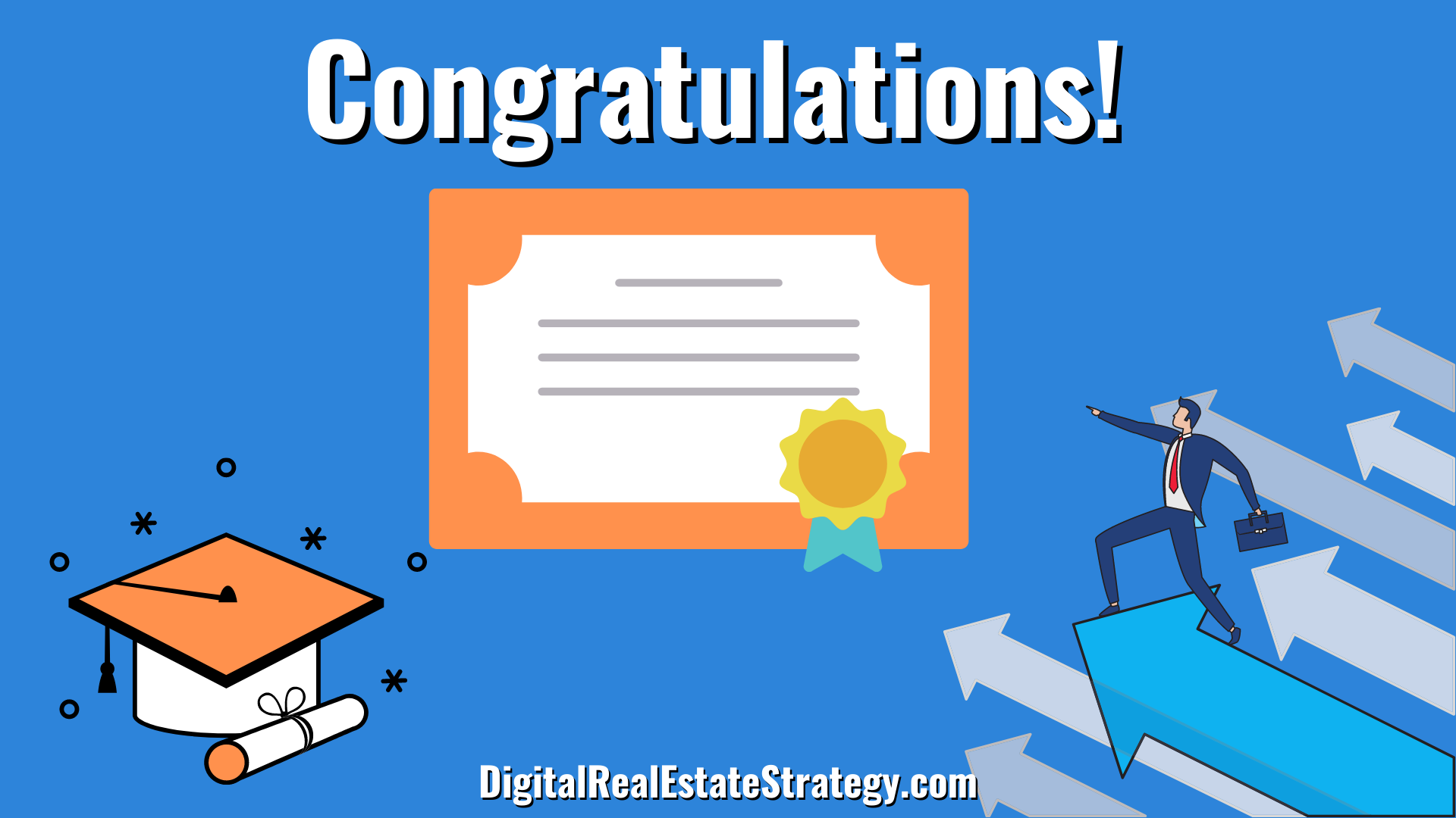 Congratulations - Real Estate License Requirements - Real Estate School - Jerome Lewis - Philadelphia - eXp Realty
