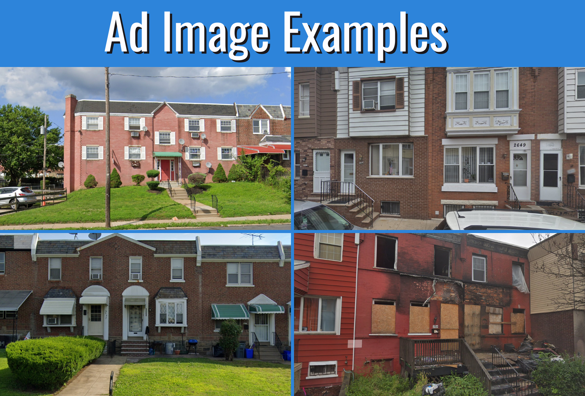 Get Motivated Seller Real Estate Leads Through Facebook - Facebook Ad Image Examples
