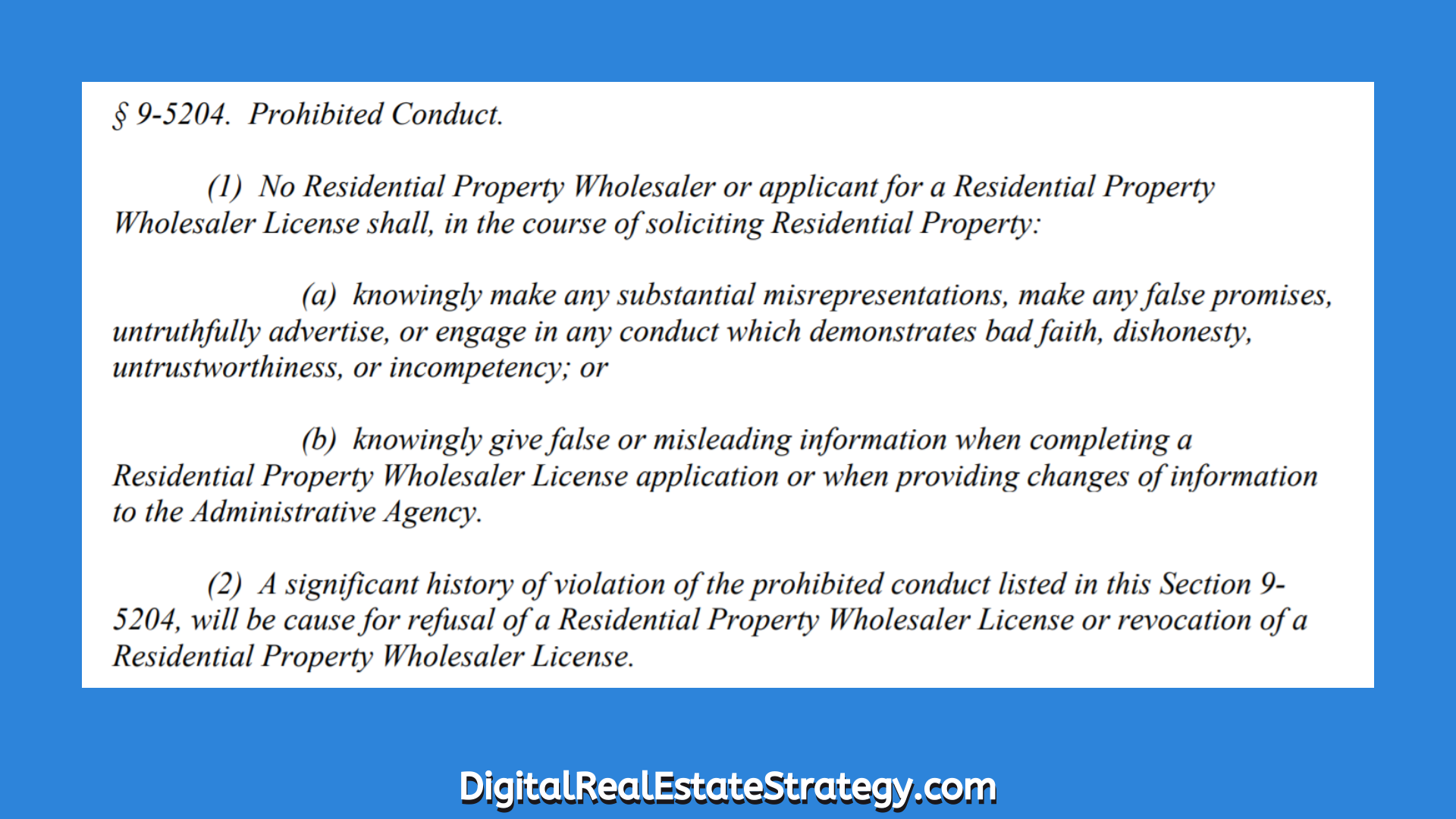 In Philadelphia Does Wholesaling Real Estate Now Require A License Philadelphia Wholesale Bill_3