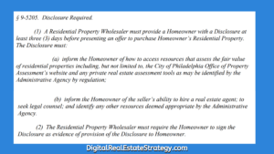 In Philadelphia Does Wholesaling Real Estate Now Require A License Philadelphia Wholesale Bill_5