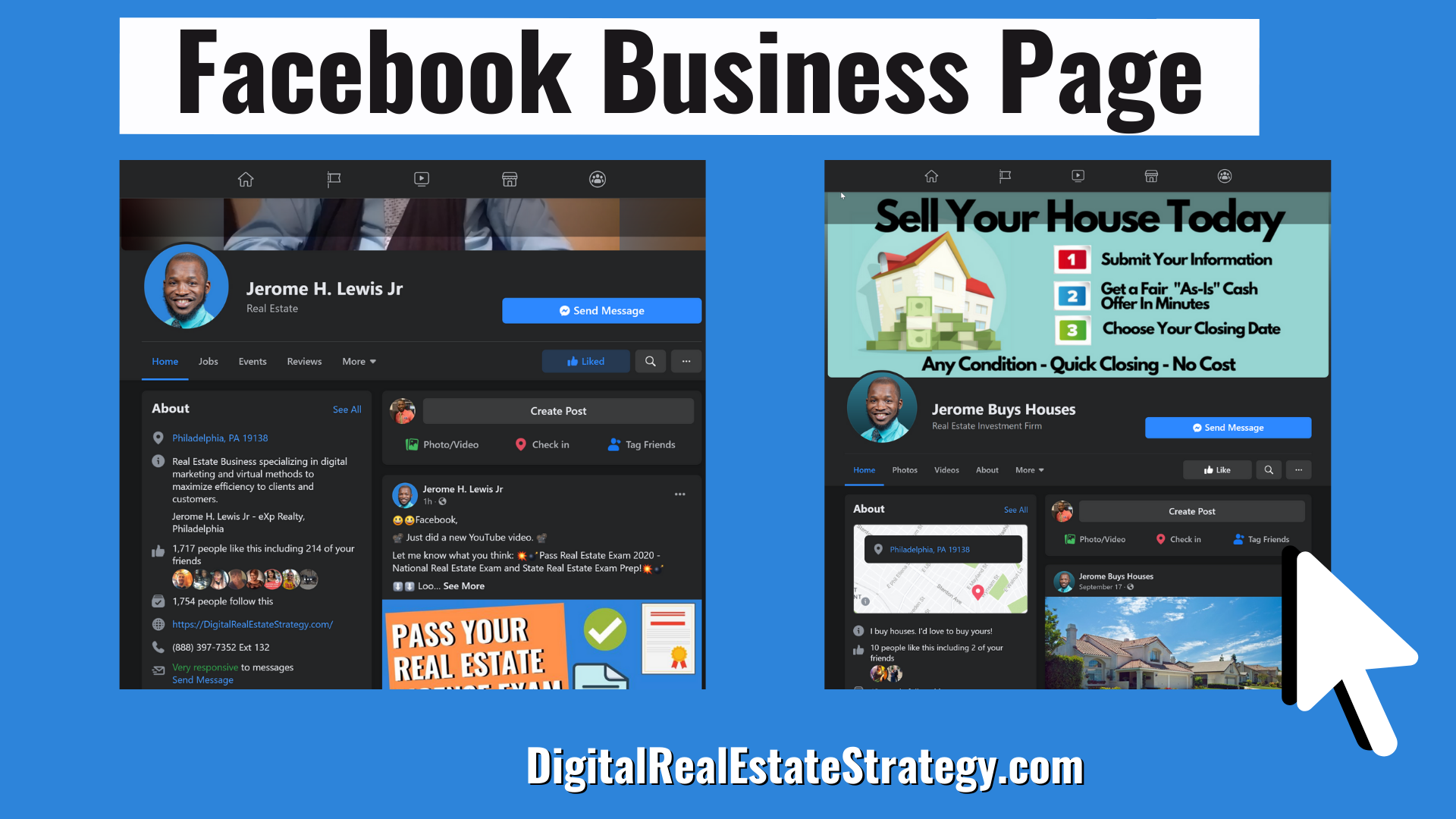 Facebook Business Page - Jerome Lewis - Motivated Seller Real Estate Leads Through Facebook - Featured Image