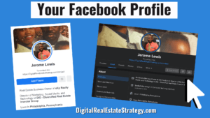 Your Facebook Profile - Jerome Lewis - Motivated Seller Real Estate Leads Through Facebook - Featured Image